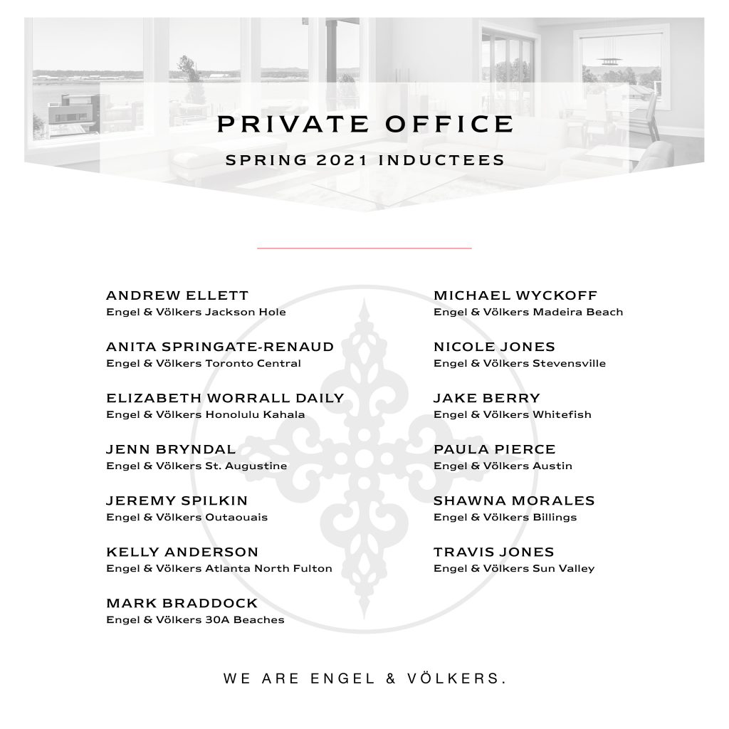 Private Office Inductees