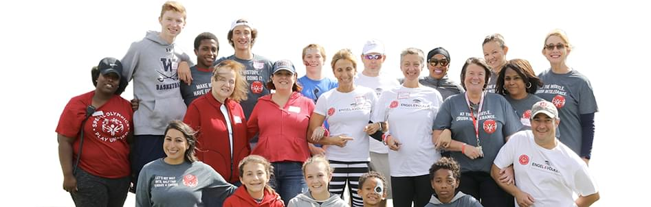 Special Olympics and Engel Volkers group photo